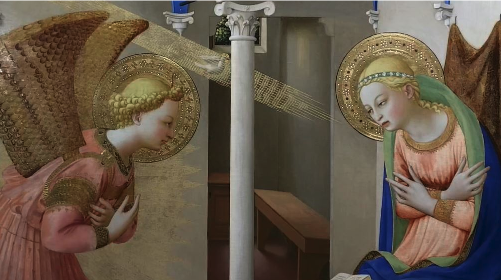 The Annunciation by Fra Angelico in Prado AM